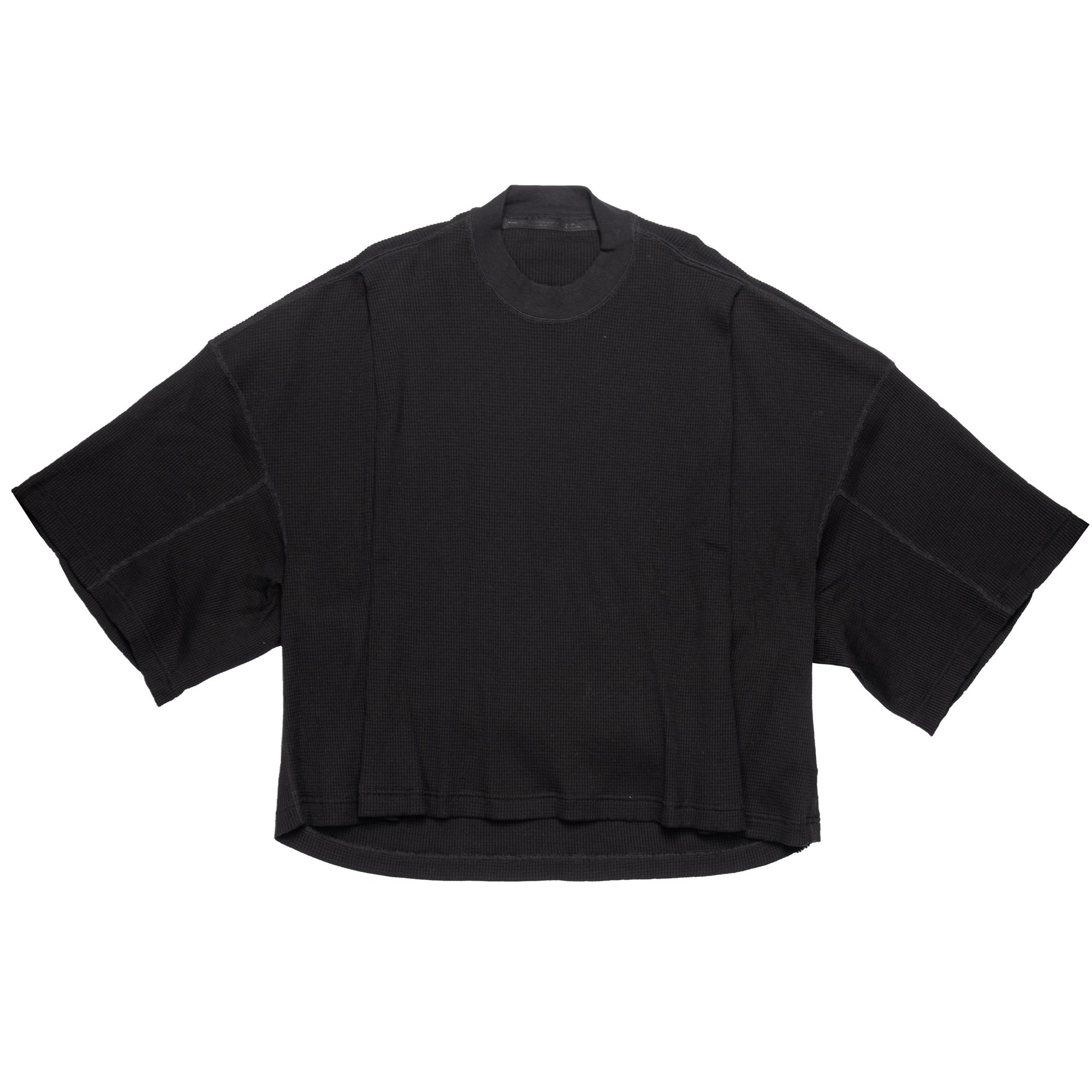 657CPM21-BLACK / タックド ボックスTシャツ