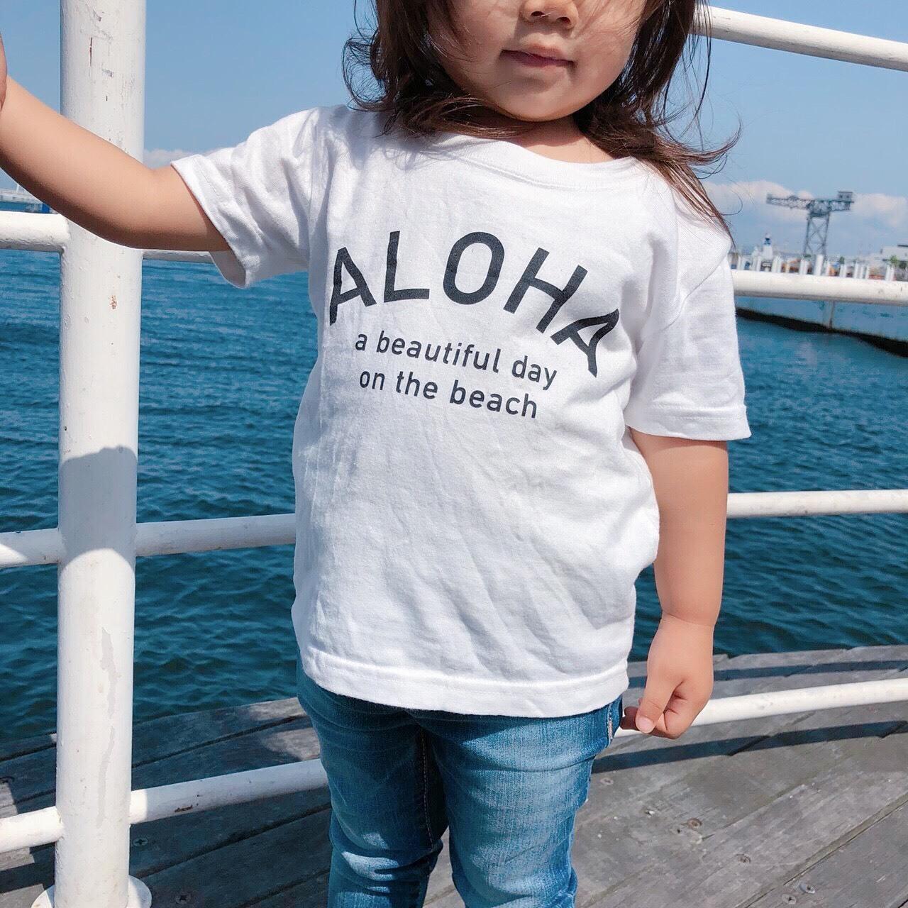 ★Kids★ ALOHA Tee - Vanilla white