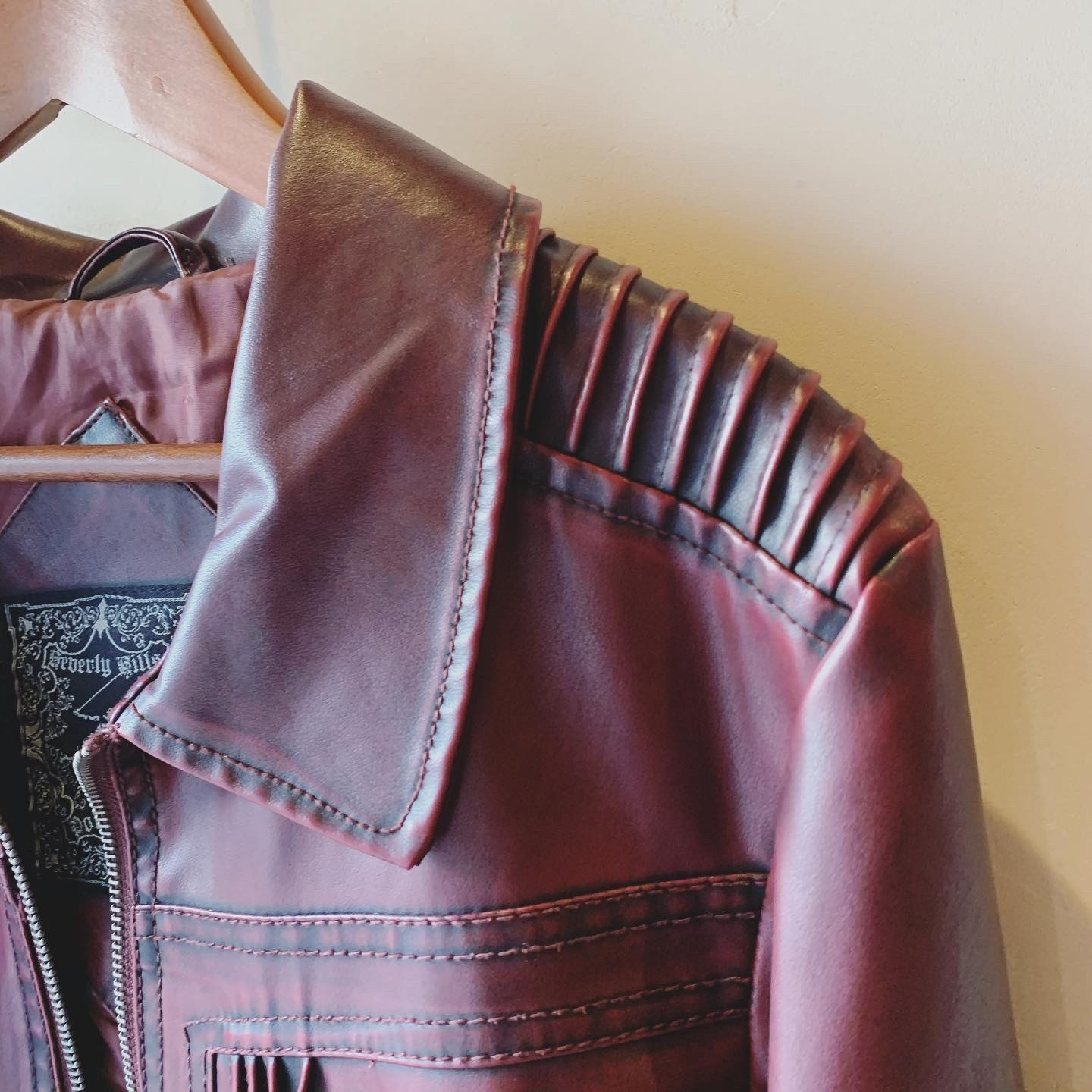 vintage poloclub leather jacket