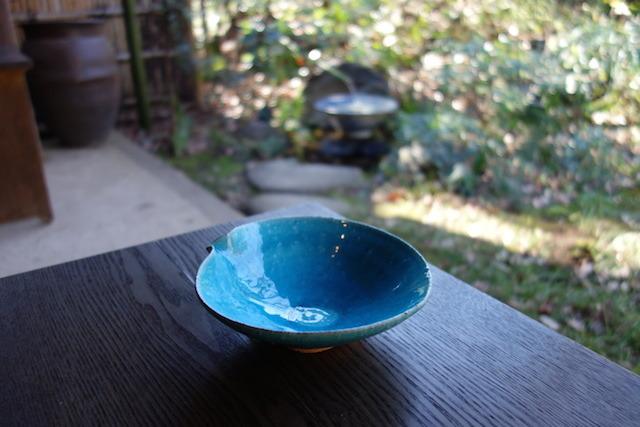トルコブルー平鉢 荒木義隆