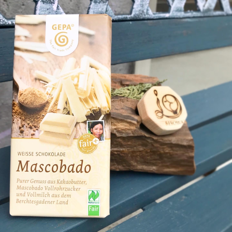 オーガニック マスコバドホワイトチョコレート【乳化剤不使用】【フェアトレード原料】