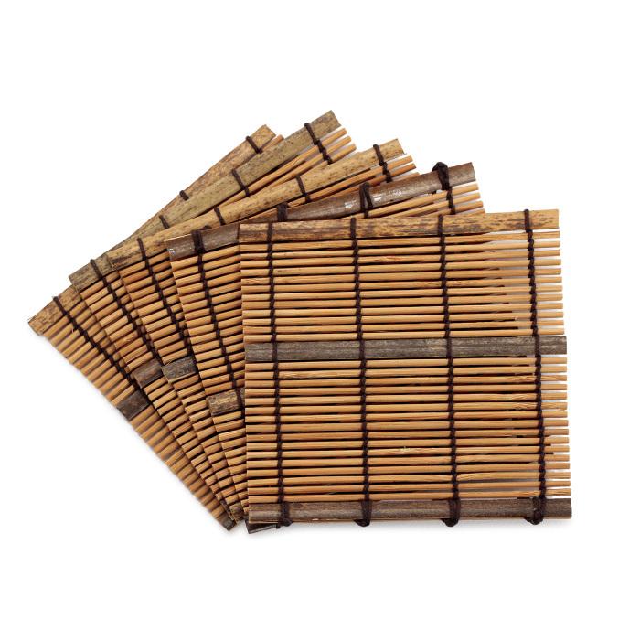 すす竹コースター(大)(5枚P入) 【50-086】
