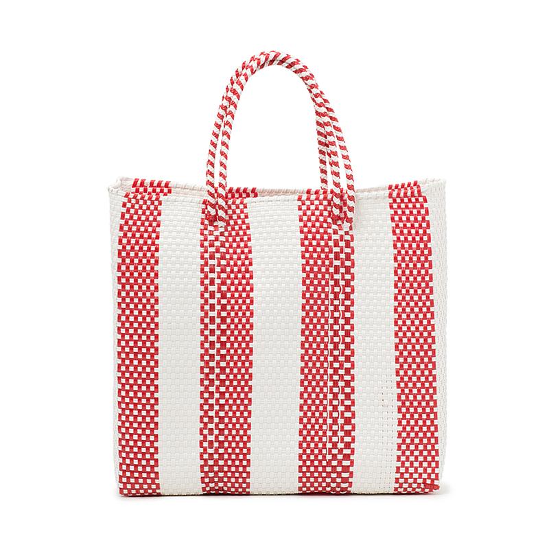 MERCADO BAG 4LINES-Red (M)