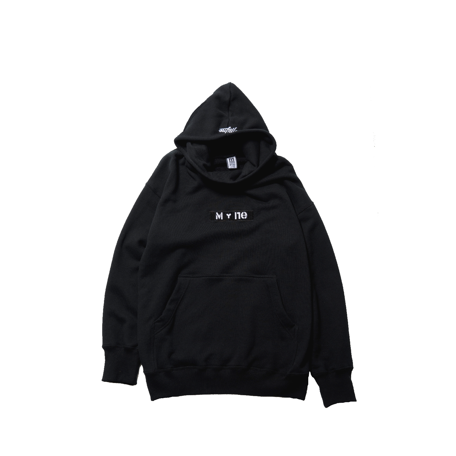 MY+ne MAGIC TAPE HOODIE / BLACK - 画像1