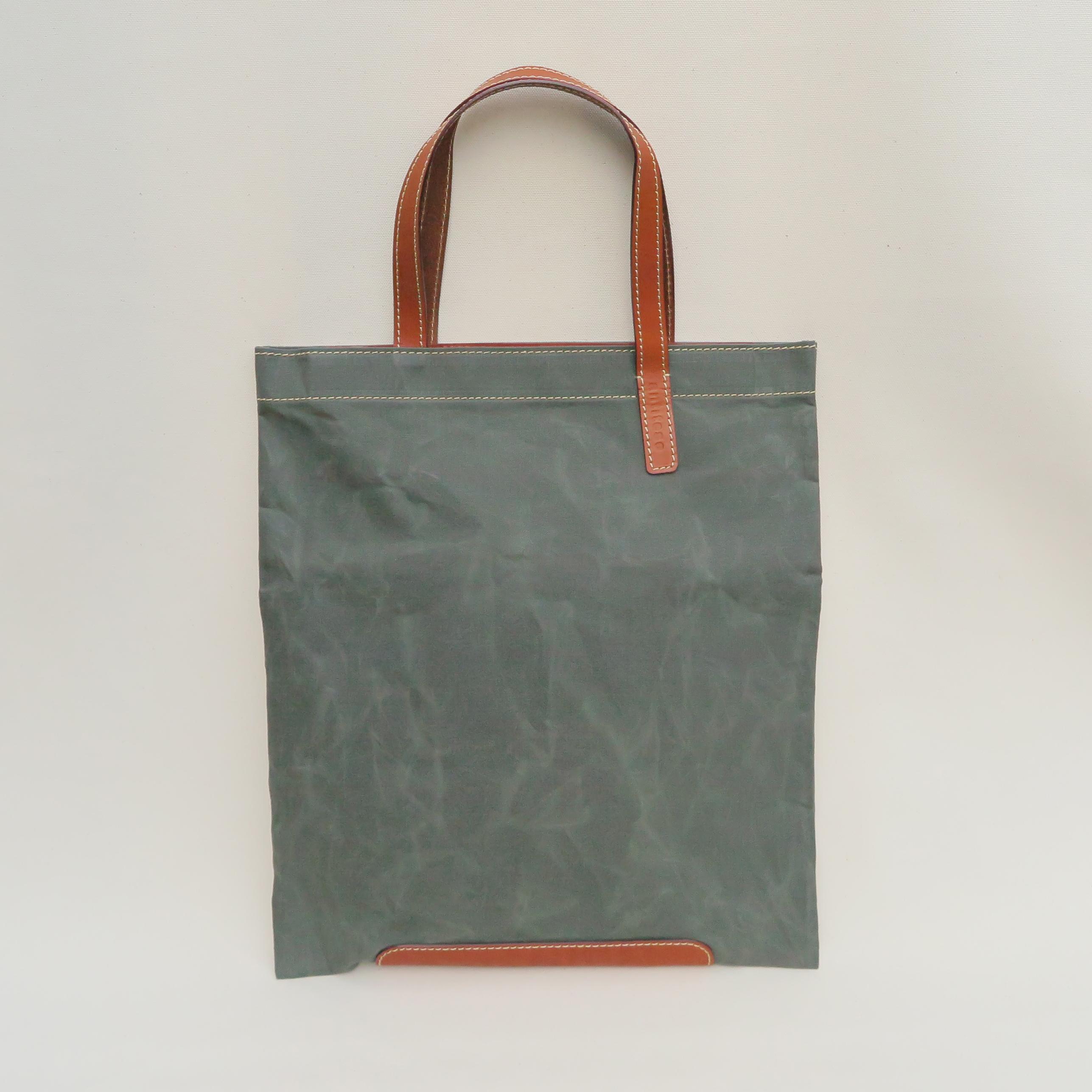 Paraffin canvas flatbag KHAKI
