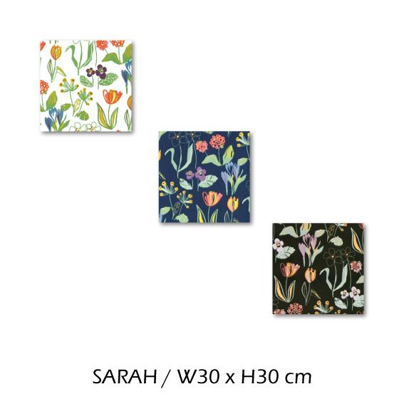 北欧生地 ファブリックパネル 横30 cm x 縦30 cm Kinnamark SARAH 受注販売商品 (100926)