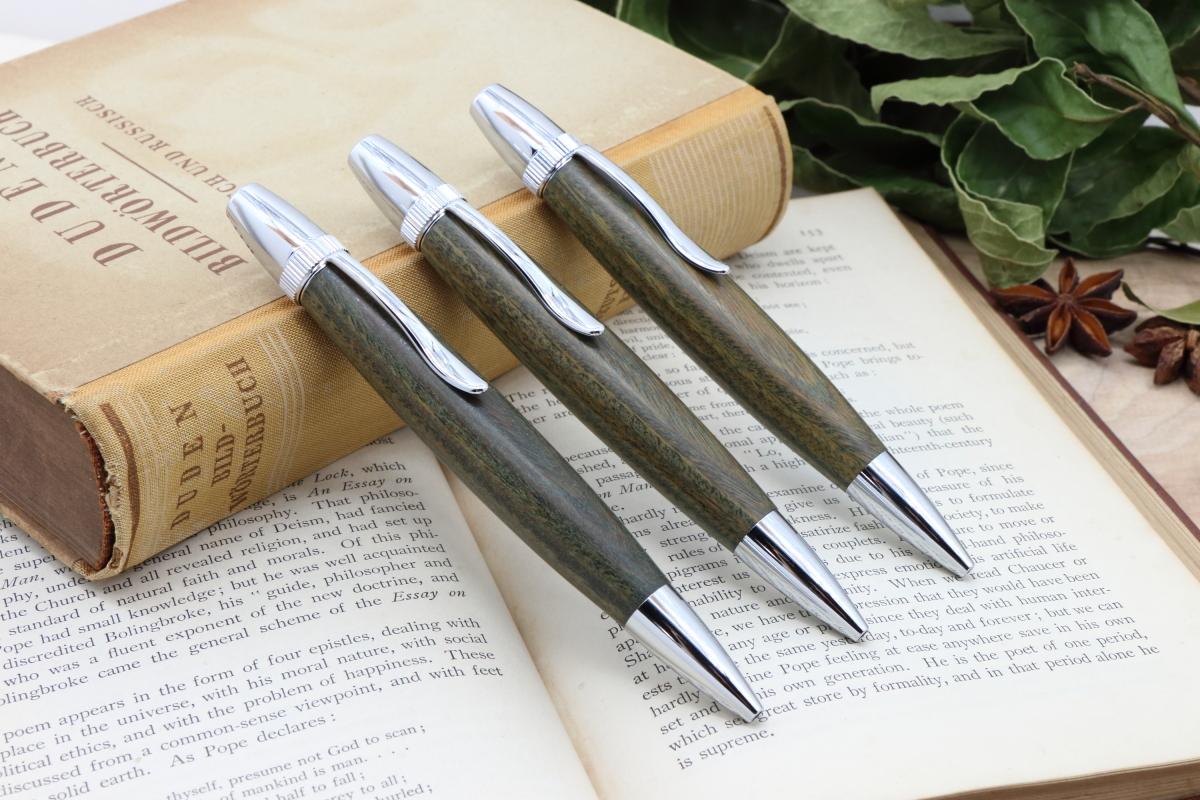 「Chouette Long・ヒーリングウッド 聖木 パロサント」Virisitas手作りボールペン♪ジェットストリーム芯専用