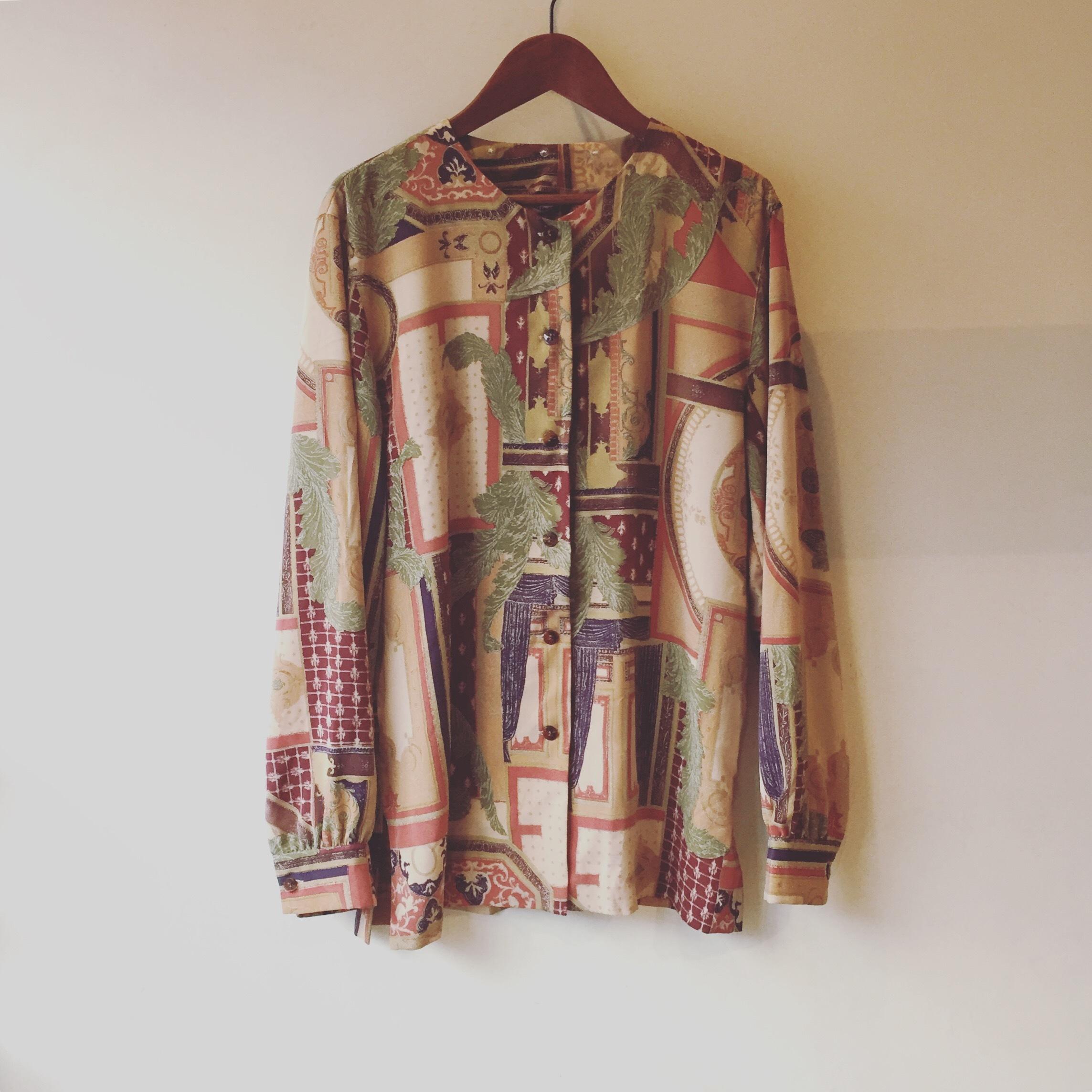 vintage no collar design shirts