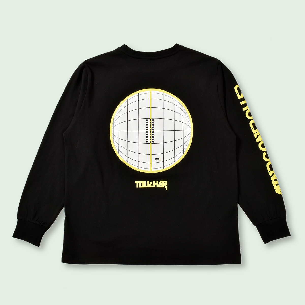 OVERSIZED ANALYSIS LONG SLEEVE TEE - BLACK