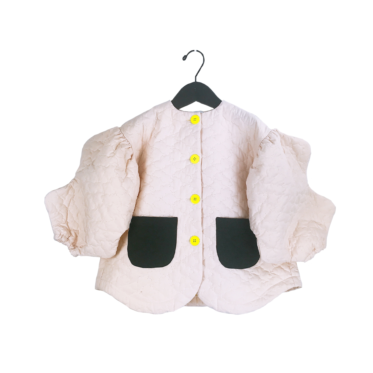 BEAR QUILTING WAVE CUT SLEEVES JACKET / WOMEN