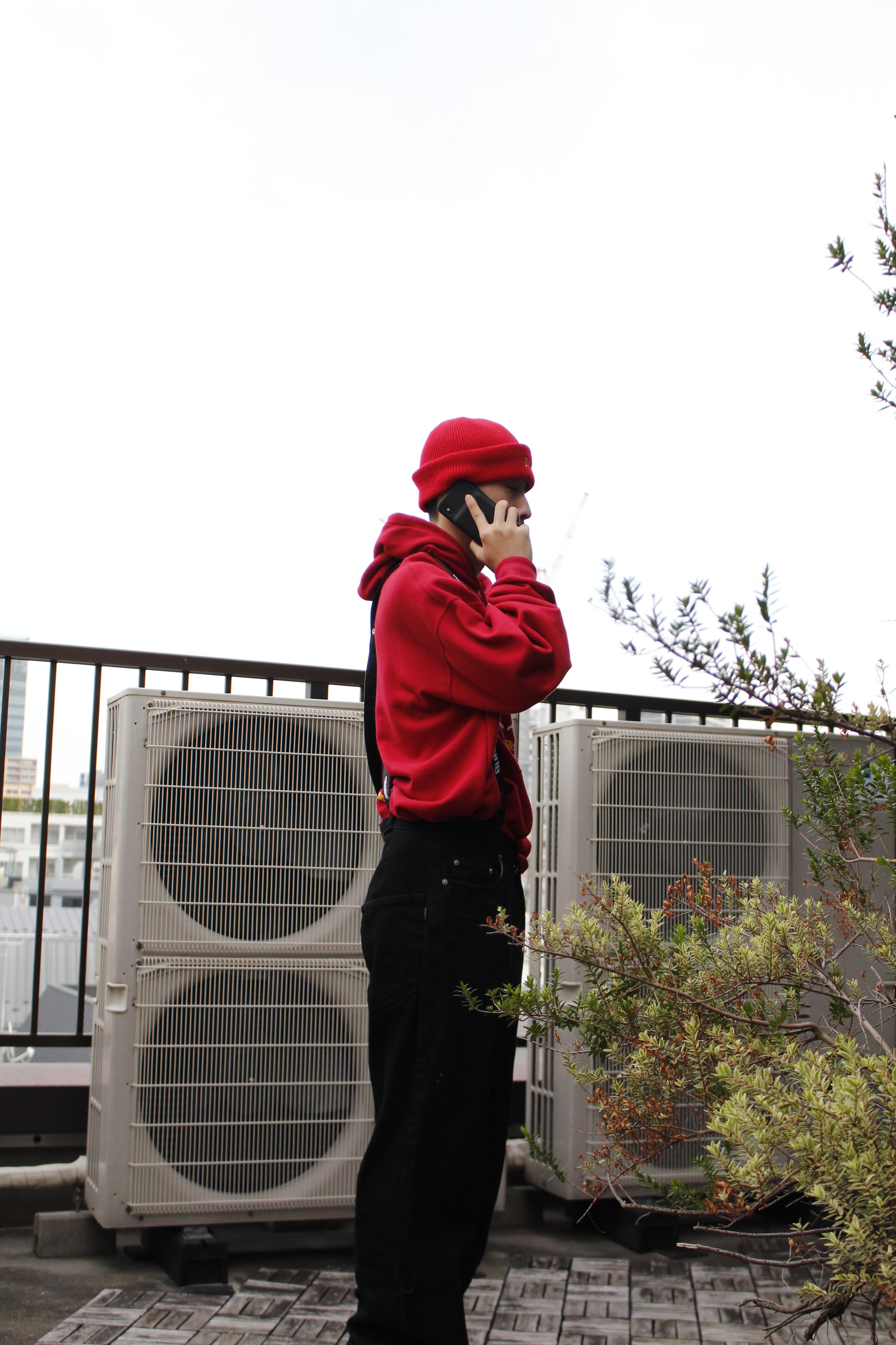 MYne × BADBOY hoodie / RED - 画像2