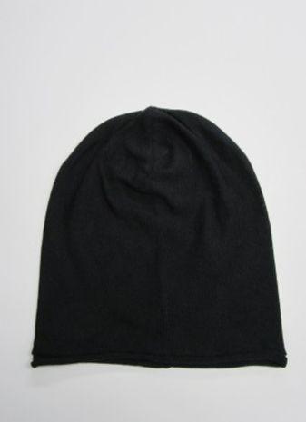 【送料無料】こころが軽くなるニット帽子amuamu|新潟の老舗ニットメーカーが考案した抗がん治療中の脱毛ストレスを軽減する機能性と豊富なデザイン NB-6060|漆黒(しっこく) - 画像1