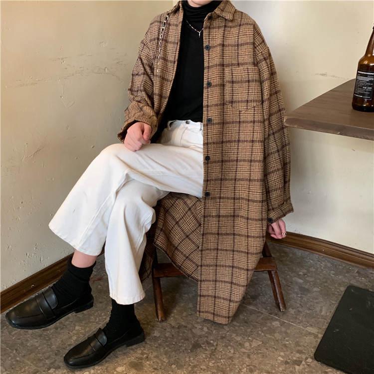 【送料無料】こなれ感UP ♡ 大人可愛い カジュアル チェック柄 ロング シャツ ワンピース 羽織り アウター