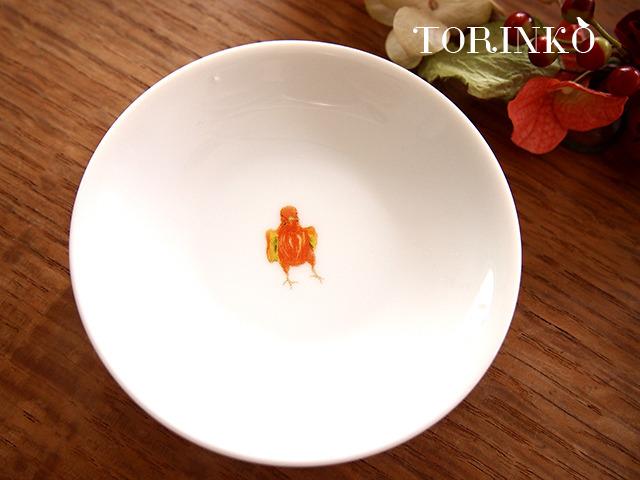 セキセイインコ オレンジ(ワキワキ) お皿 小サイズ