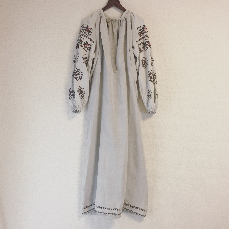vintage Ukraina dress ウクライナワンピース