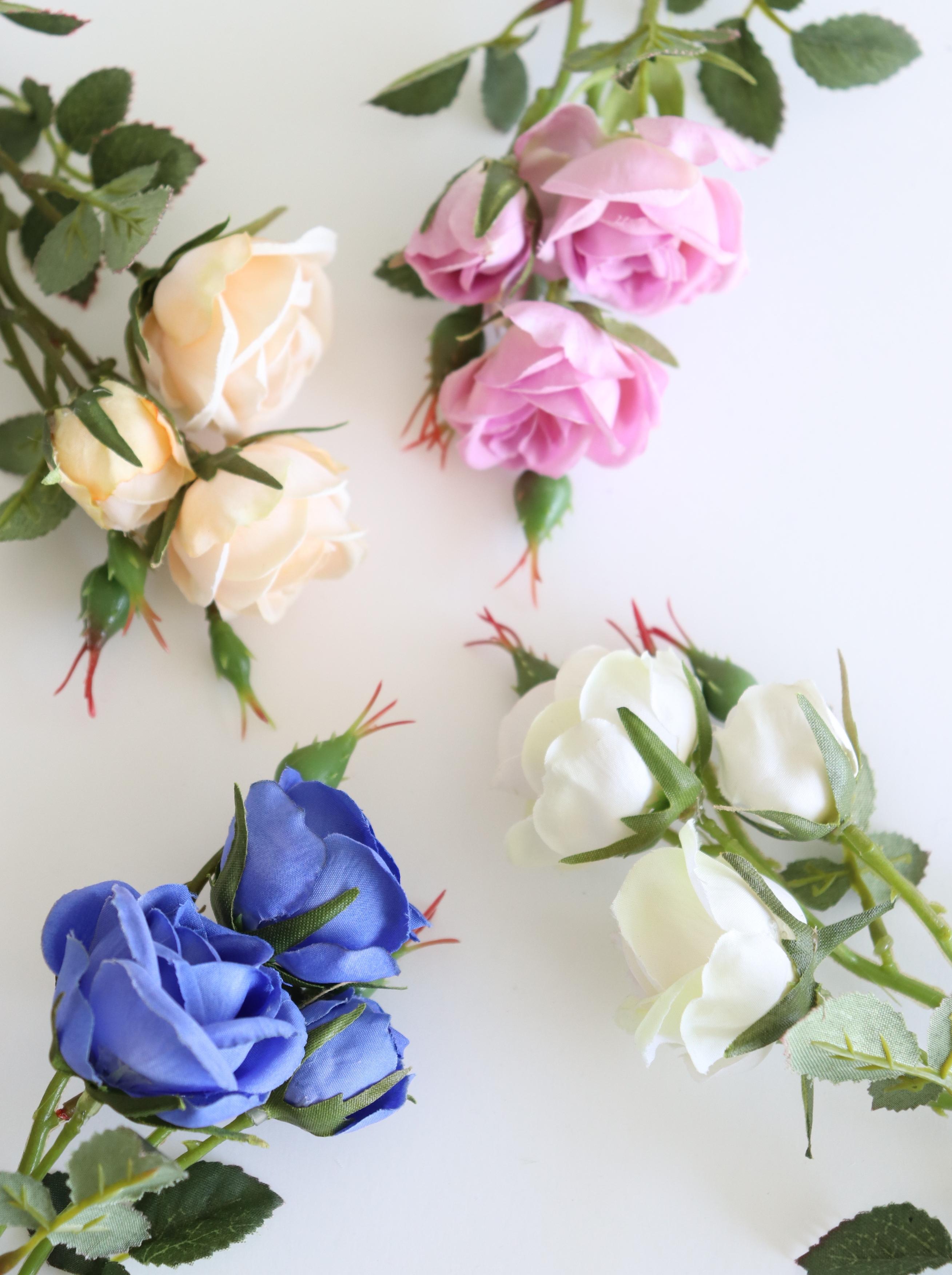 シェルローズ 4色(ピーチ、ピンク、ホワイトグリーン、ロイヤルブルー)1本単位〜