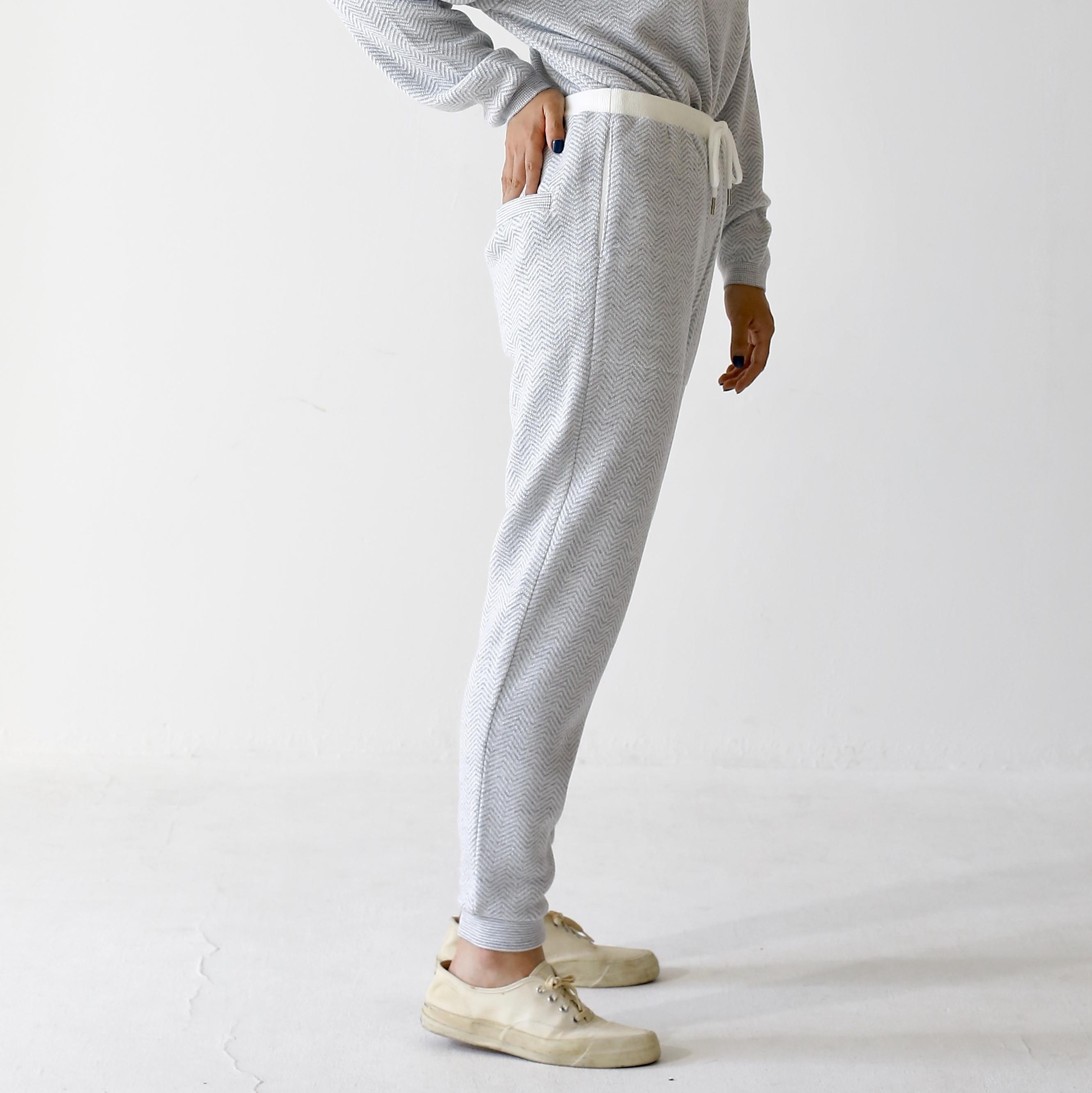 420010_Herringbone Pants(Lグレー)