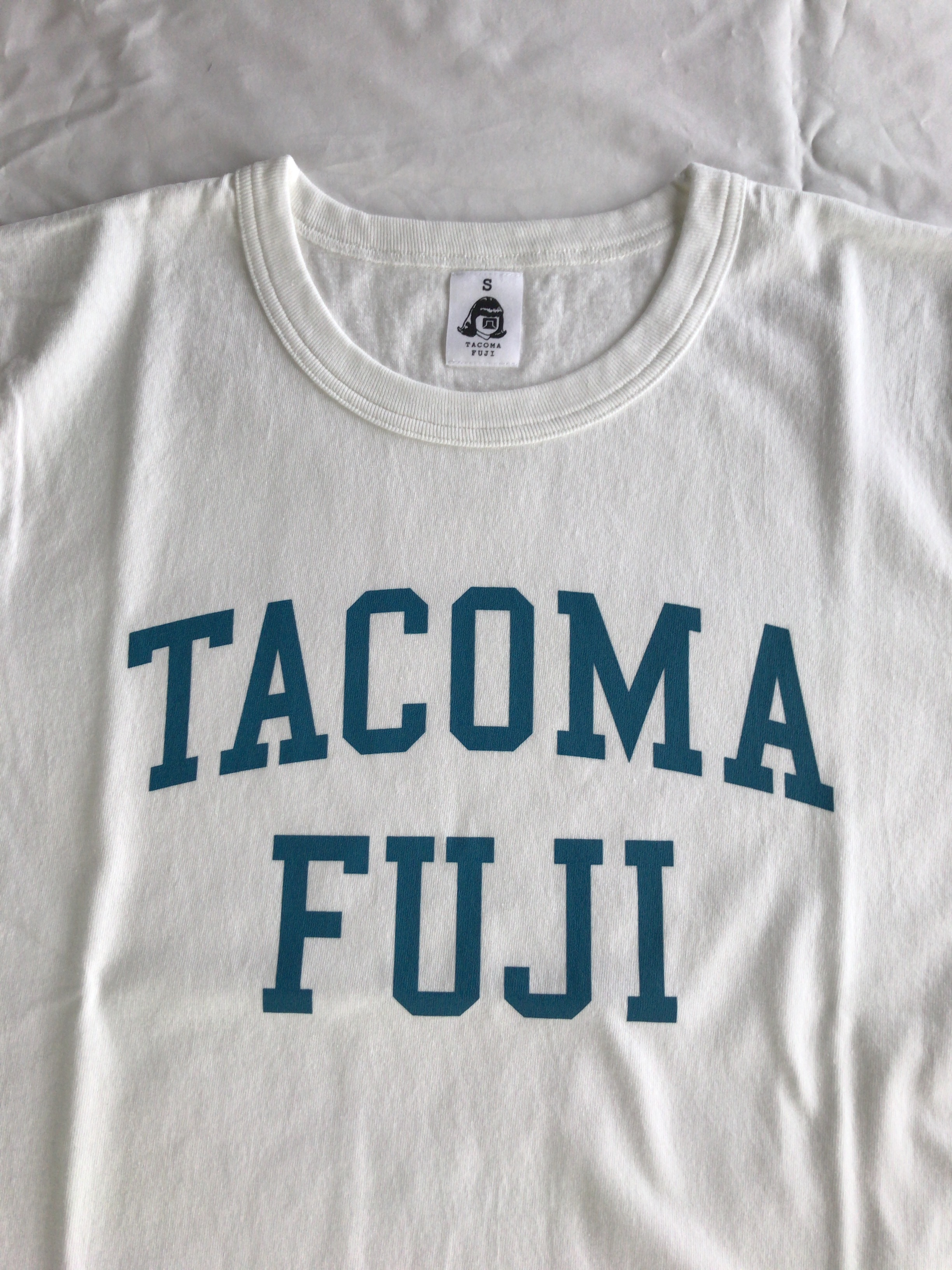 TACOMA FUJI RECORDS COLLGE LOGO  designed by Shuntaro Watanabe  WHITE