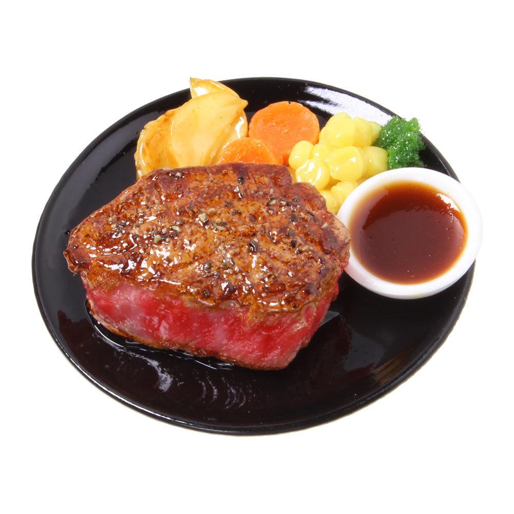 [0554]食品サンプル屋さんのマグネット(厚切りステーキ)