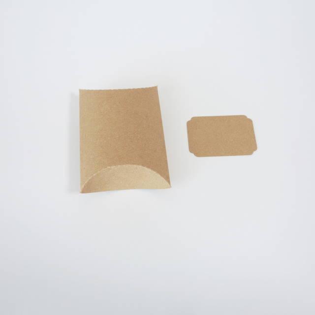 ピローケース中 3枚入 メッセージカード付 クラフト(茶)