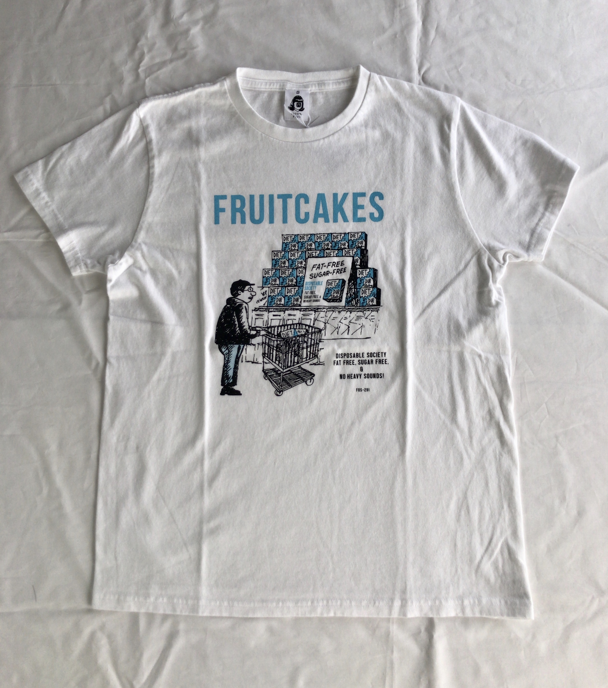 TACOMA FUJI RECORDS FRUITCAKES / DUB DIET CLUB  designed by Jerry UKAI  WHITE