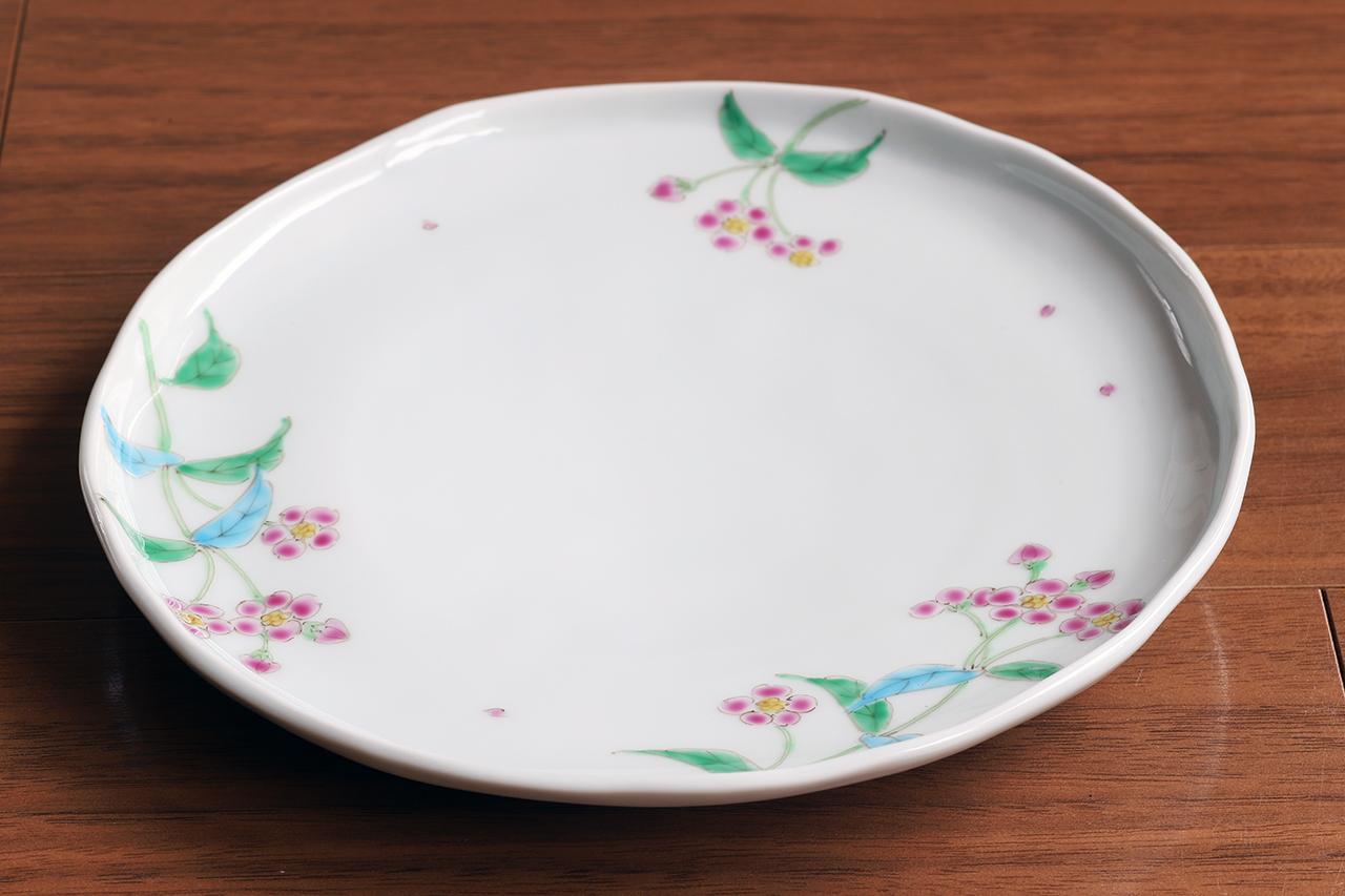 藍水 ルリハコベ 6寸皿 直径約18cmパン皿に使える大きさの器 うつわ藍水(波佐見焼)