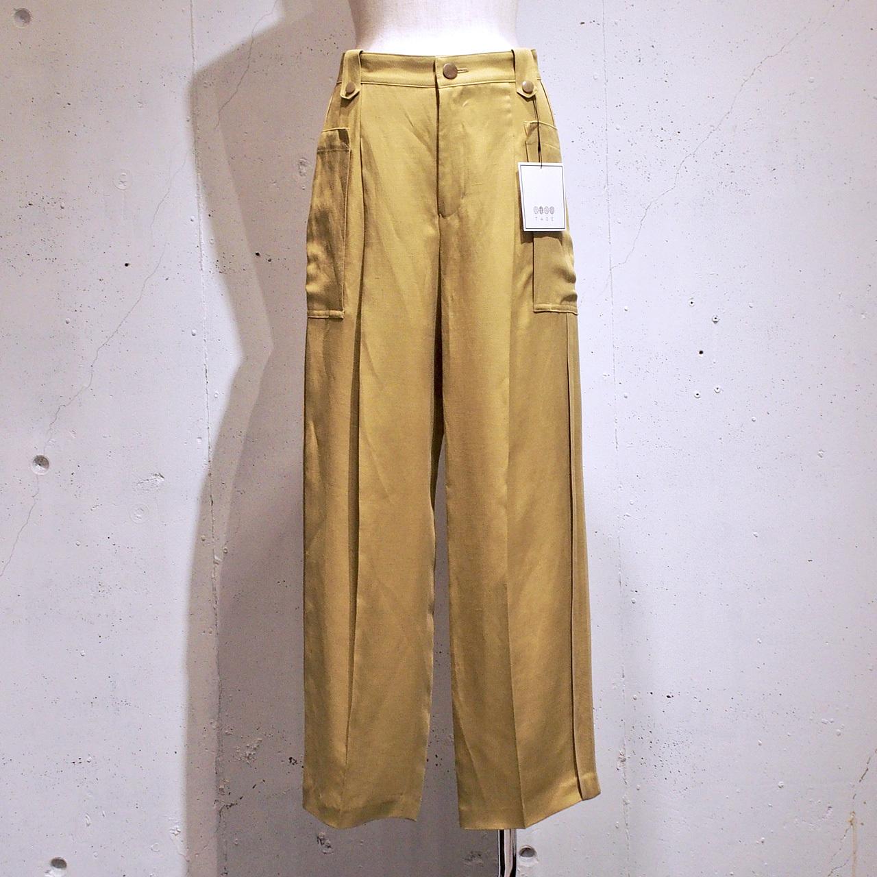 TAGE / サイドパイピングセミワイドトラウザーズ / Yellow