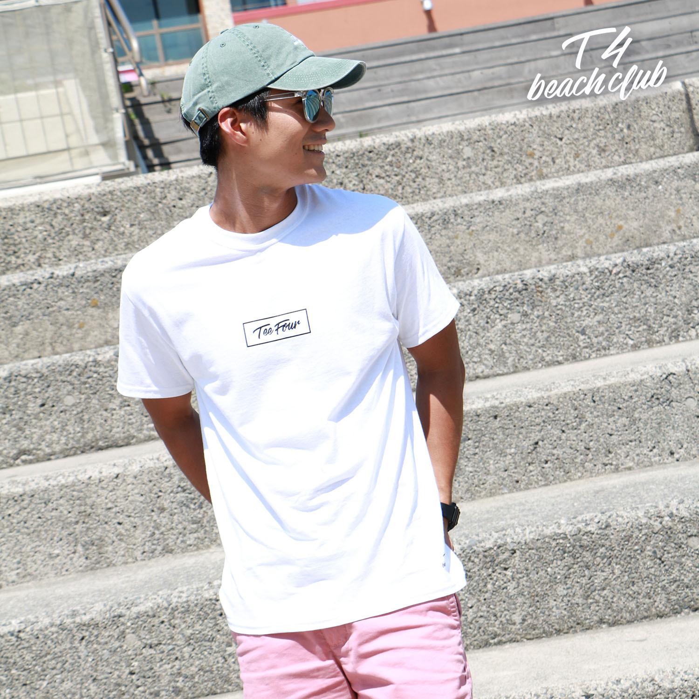 【TF001】TeeFour BOXLOGO CREWNECK T