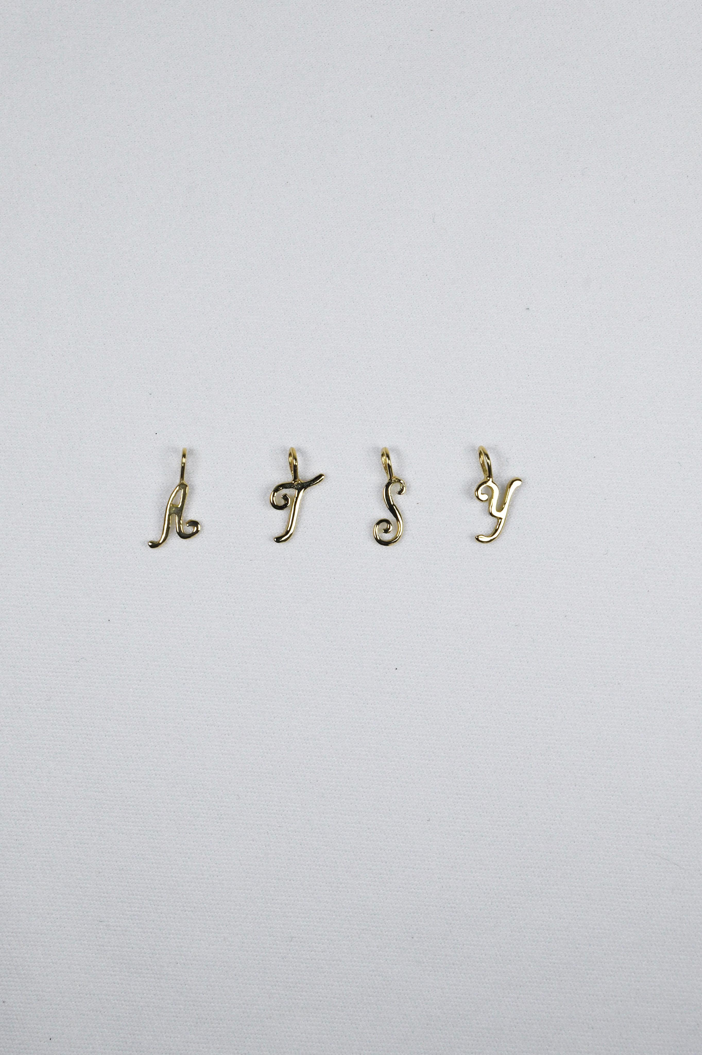 K18 Initial Pendant 18金イニシャルペンダント