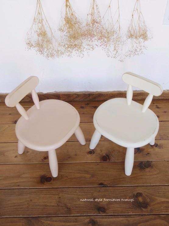 丸くてカワイイ・子供椅子(1~3歳用)(ピンクとホワイト)