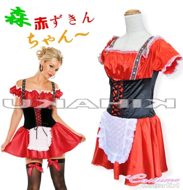 ハロウィン 即納 赤ずきん 服 コスプレ ハロウィン衣装 4378