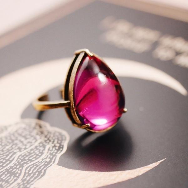 50年代スワロフスキー ヴィンテージガラスリング(指輪)