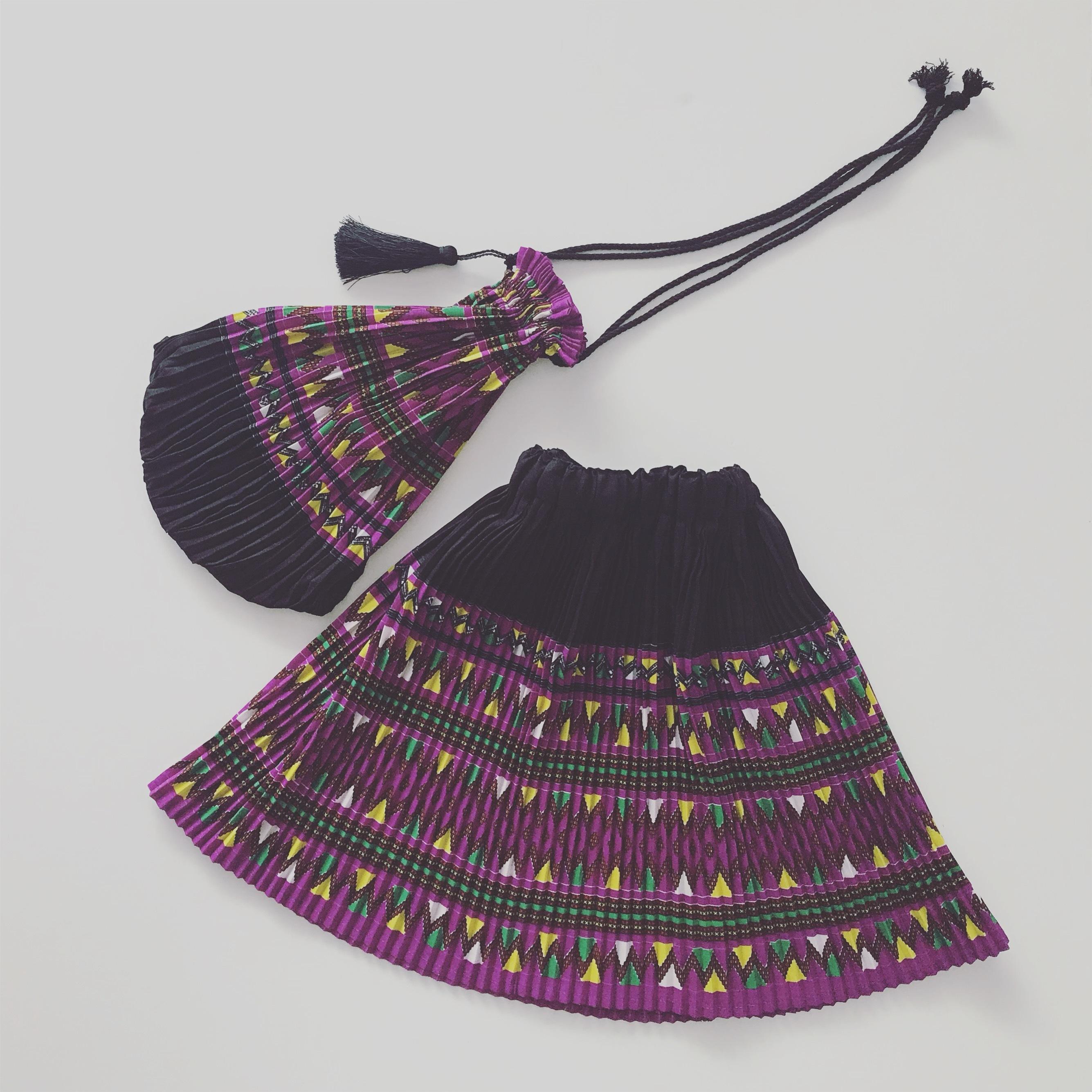 【お教室】タイ少数民族モン族プリーツスカート