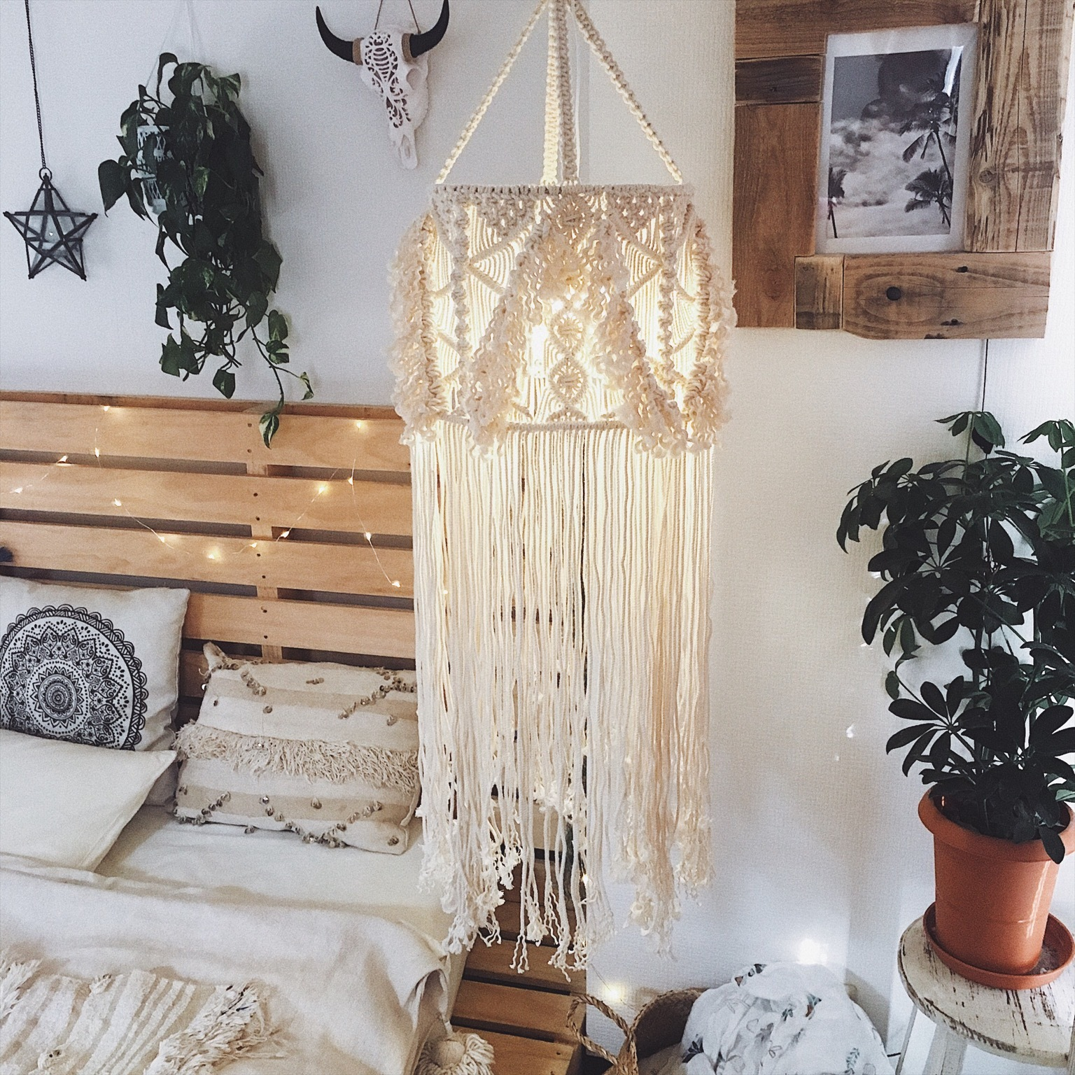 【送料無料】Macrame lampshade