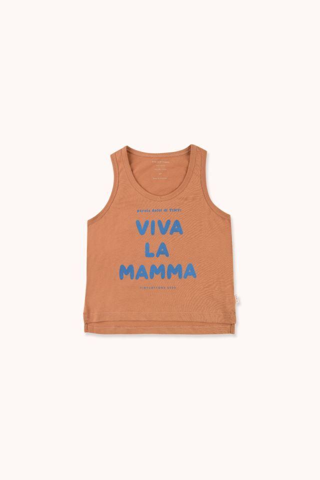 """TINYCOTTONS タイニーコットンズ """"VIVA LA MAMMA"""" TANK TOP   size:12Y(140-155)"""