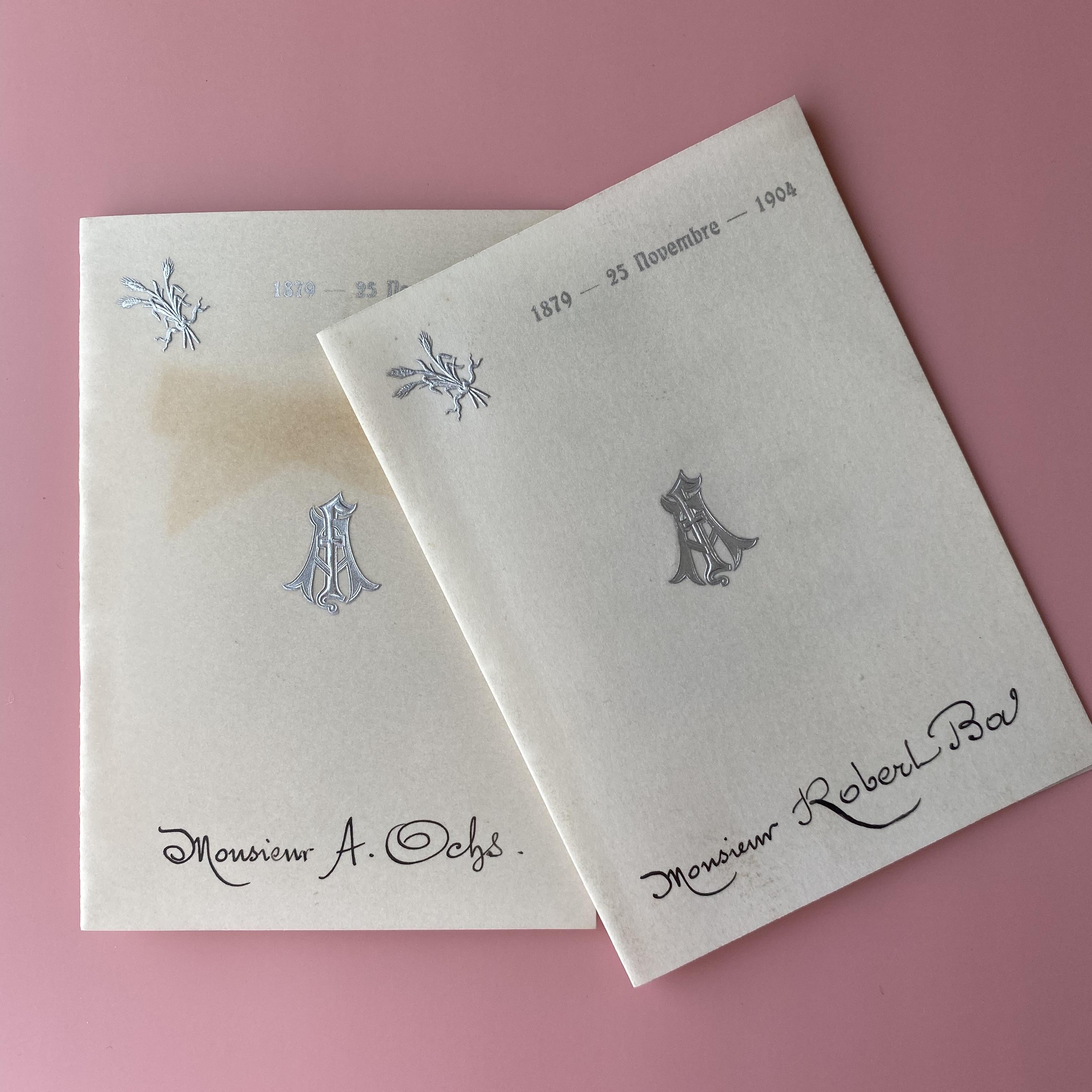 セルロイドメニューカード・1904/ vp0078