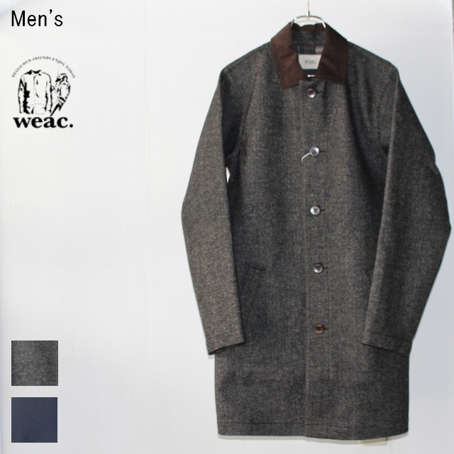 weac. ウィーコート WEA COAT(GRAY / ウールネップ) 【Men's】