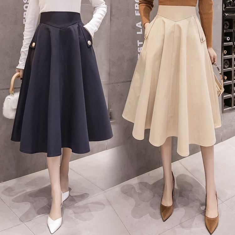 フレアスカート ロングスカート フェミニン ミモレ丈 ハイウエスト Aライン 大きいサイズ お呼ばれ スカート