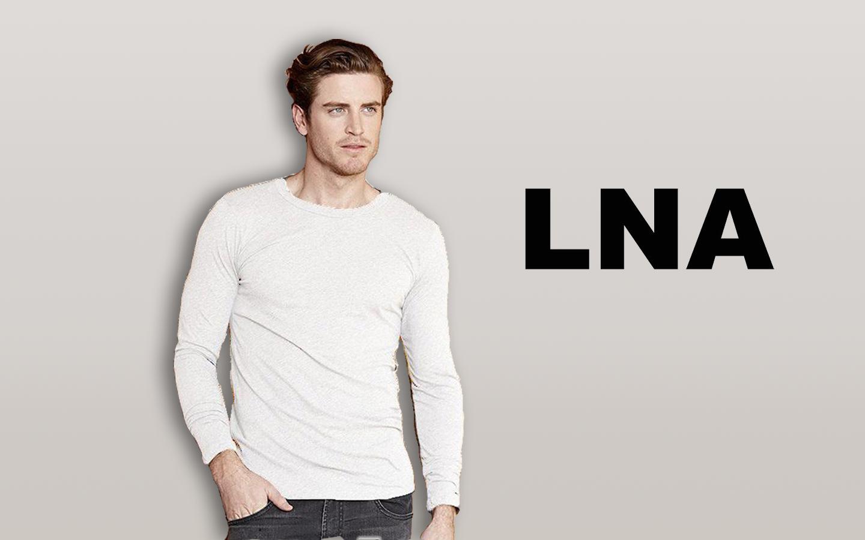 LNA/エルエヌエー ロングスリーブクルーネックシャツ/ホワイト