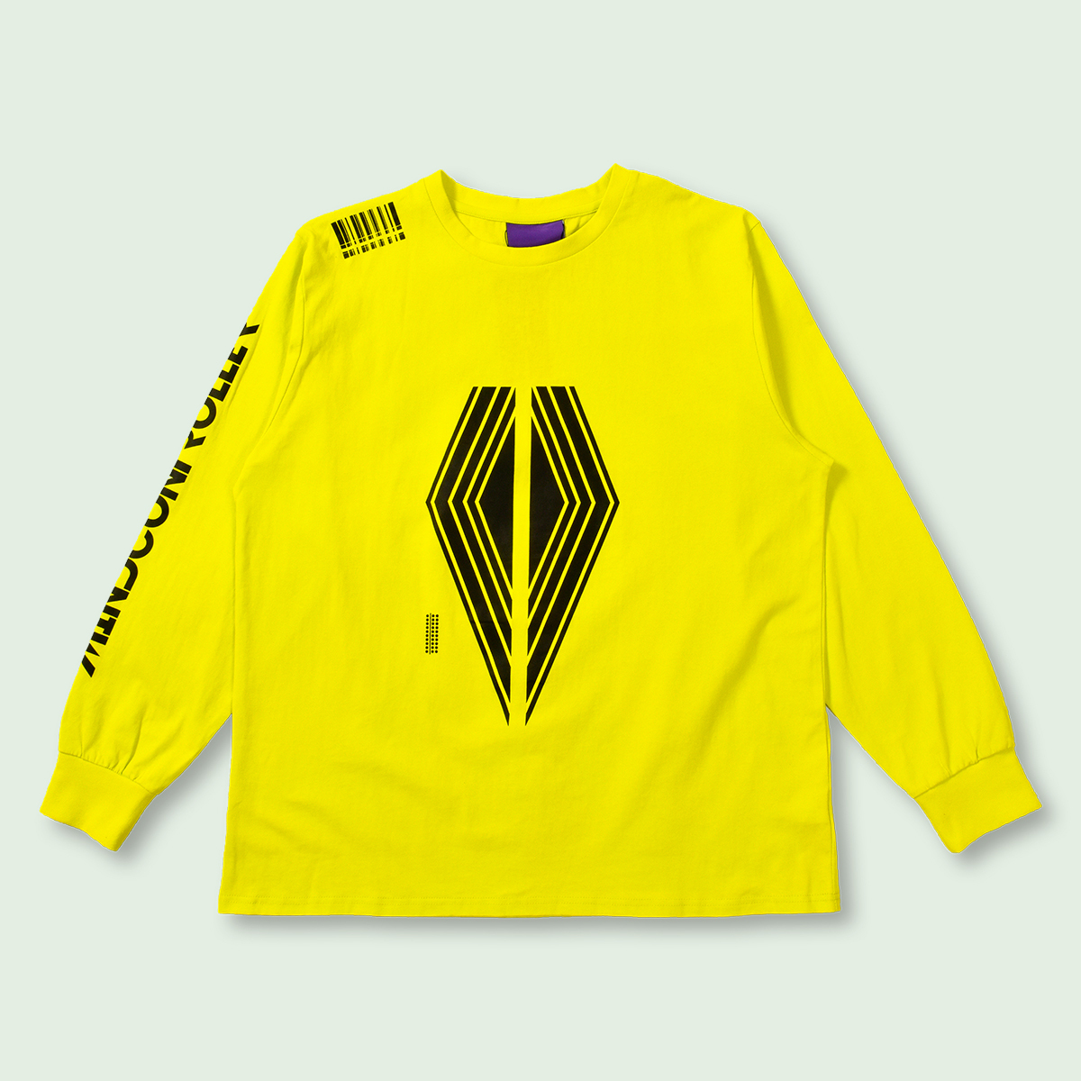 OVERSIZED AROUND THE WORLD LONG SLEEVE TEE - YELLOW