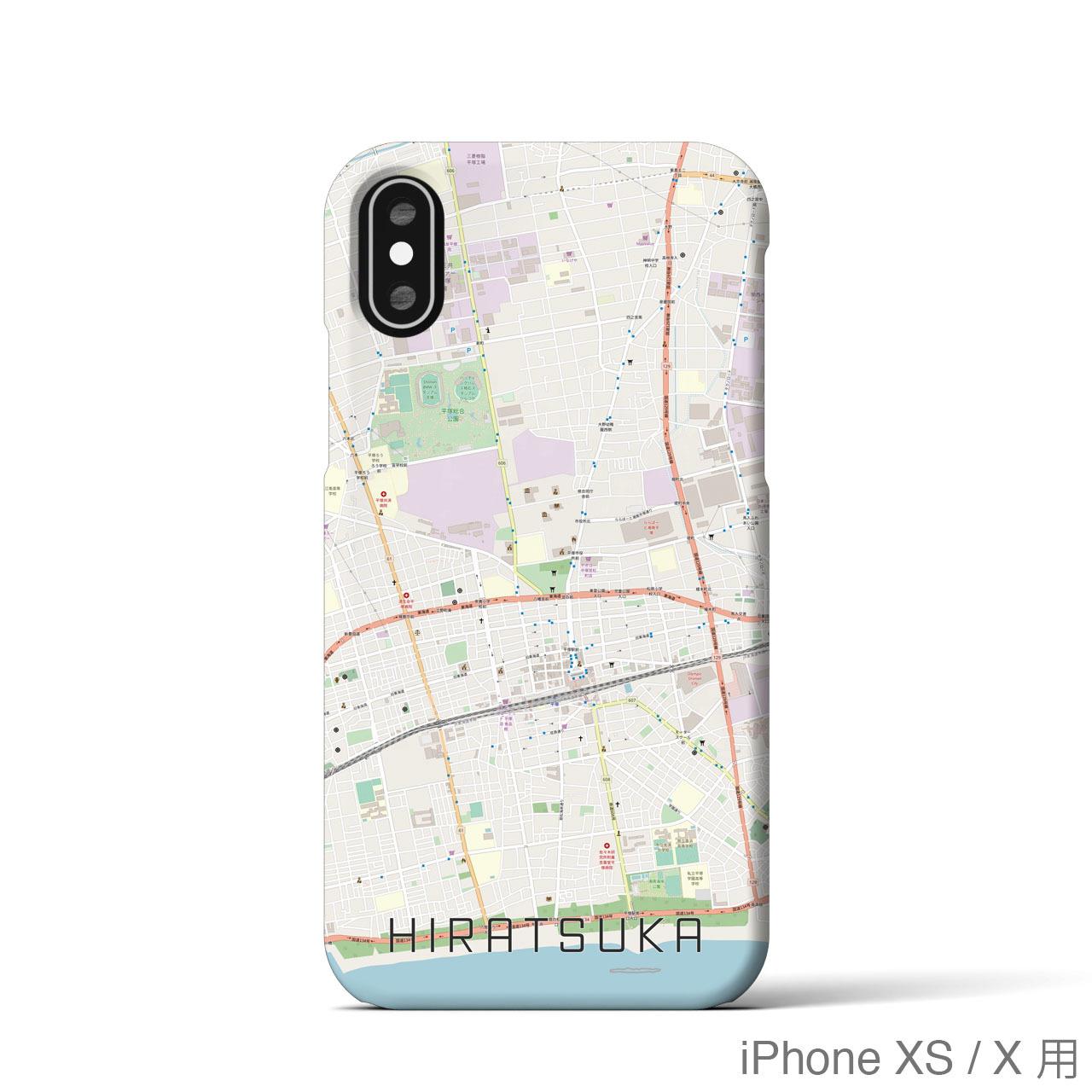 【平塚】地図柄iPhoneケース(バックカバータイプ・ナチュラル)