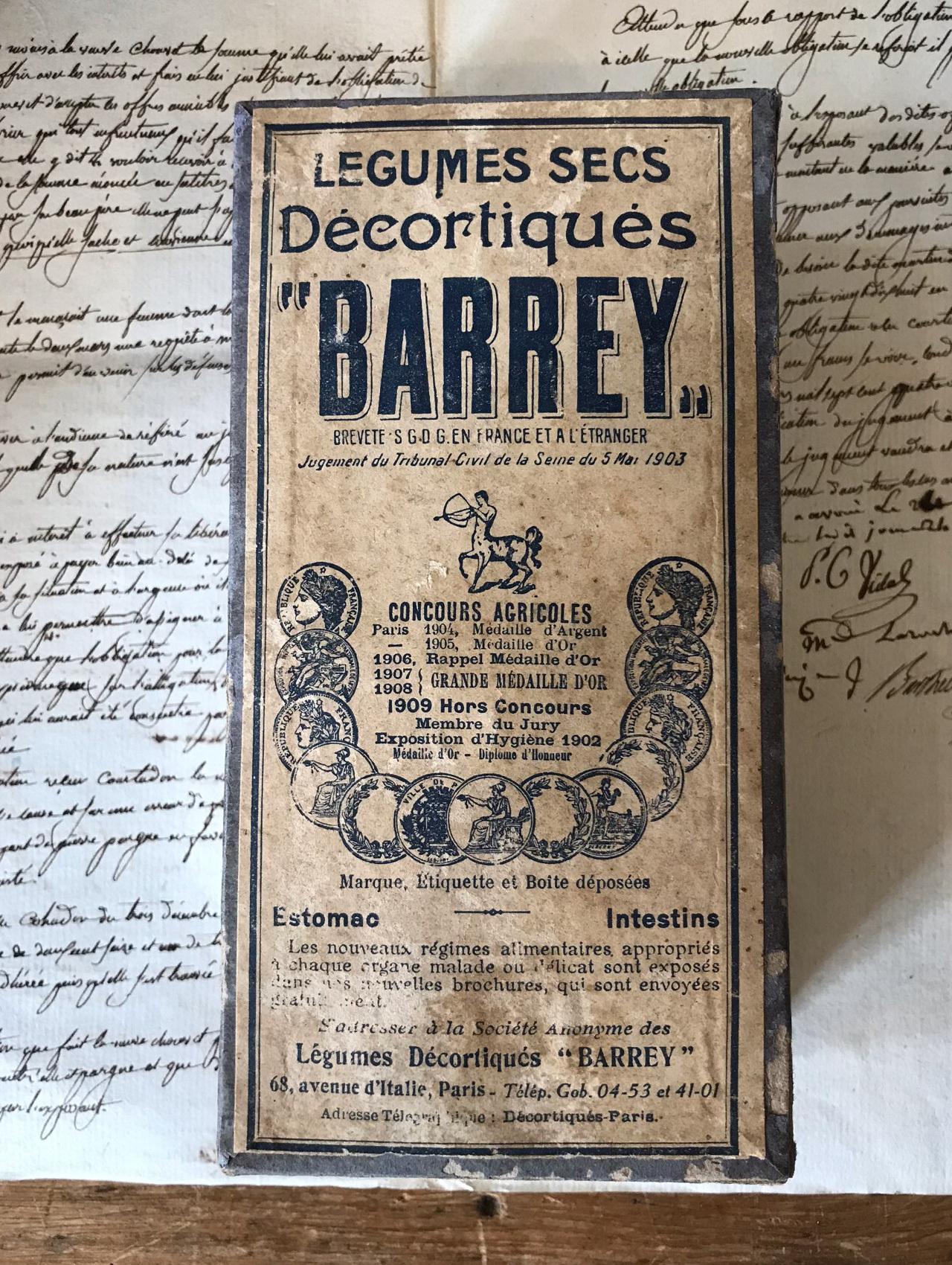フランスの紙箱 BARREY