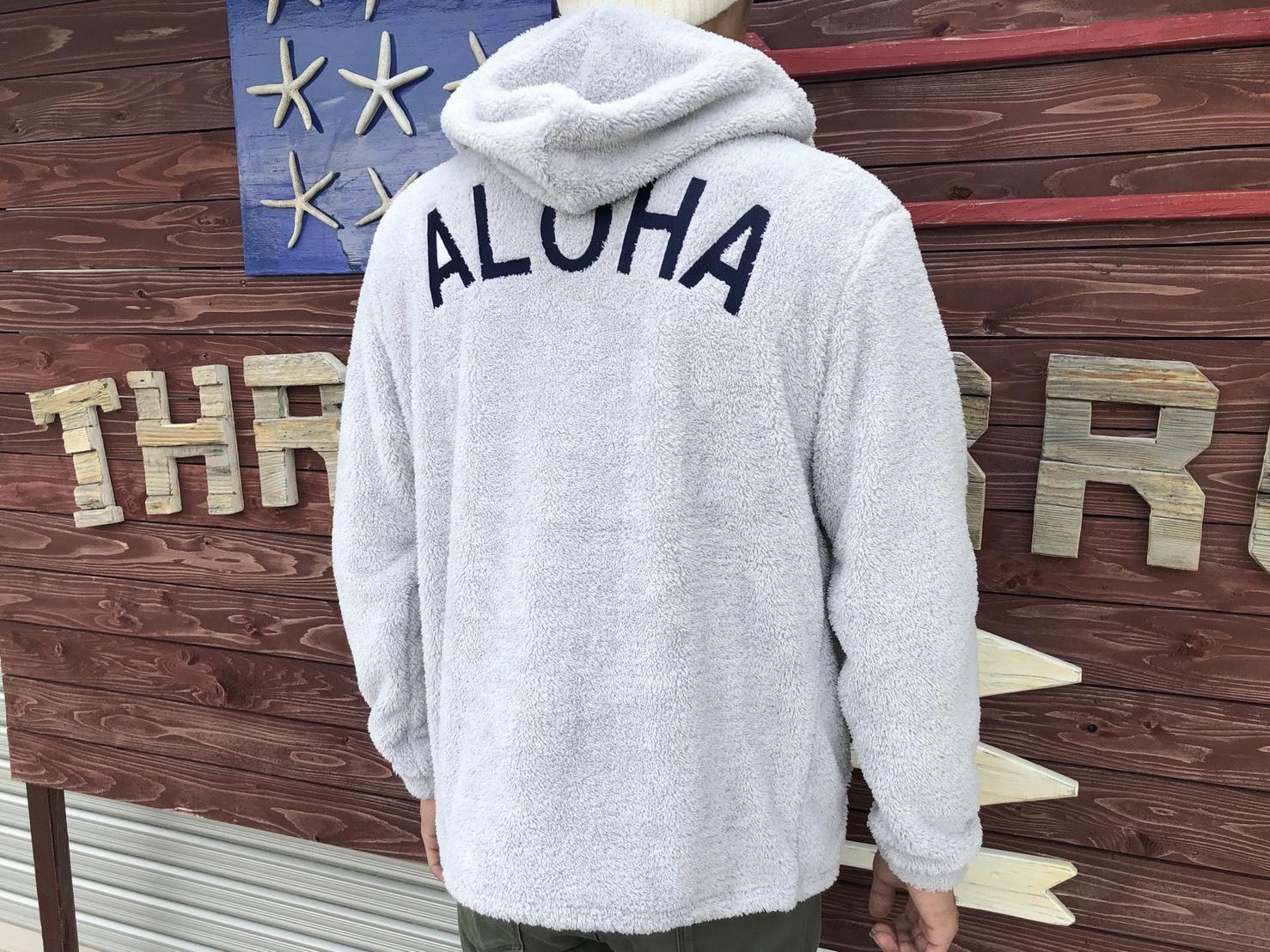 ALOHA ボア ZIPパーカー(gray)