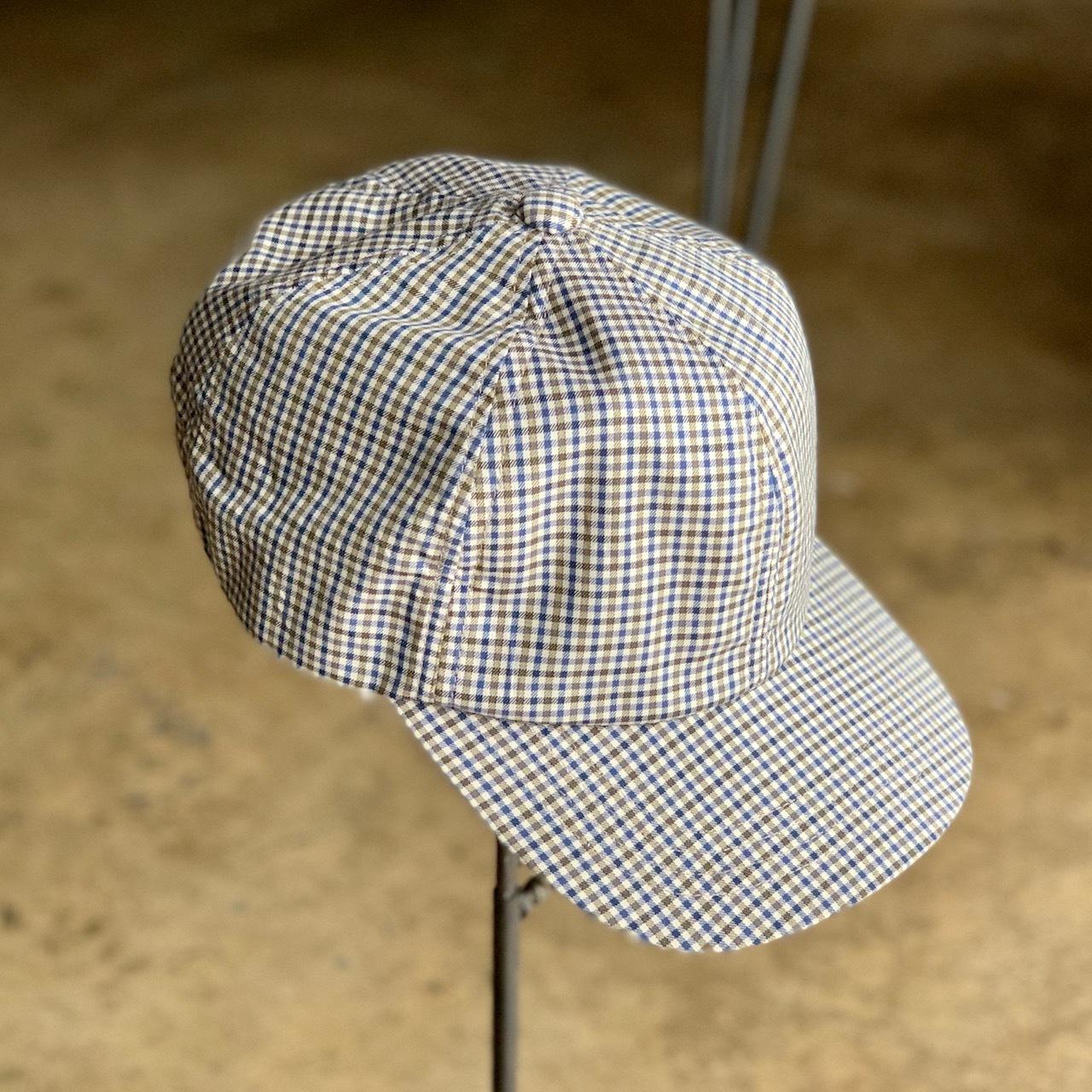 Deadstock fabric gingham cap