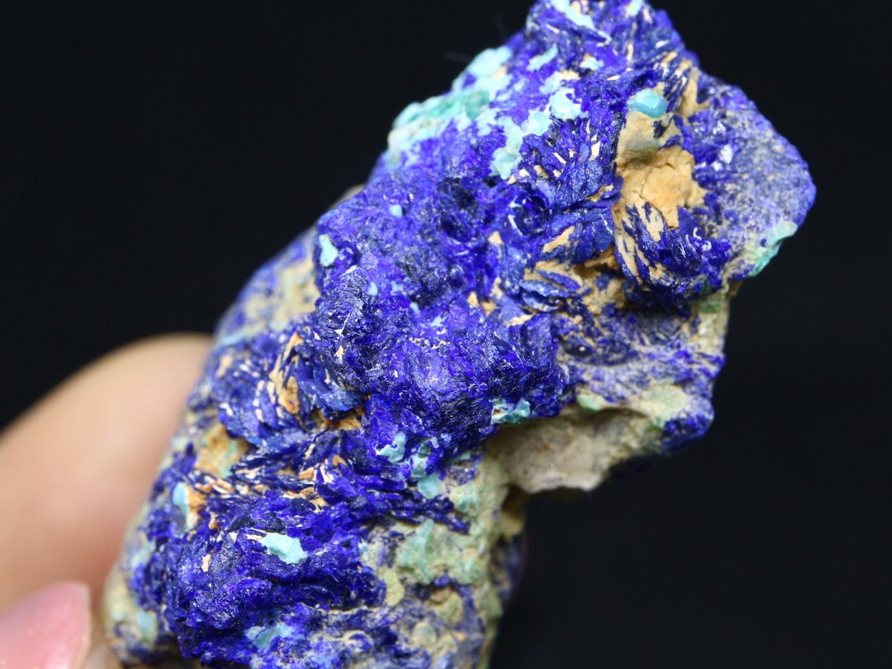 アリゾナ産 アズライト アジュライト 20,6g 原石 鉱物 標本 AZR001