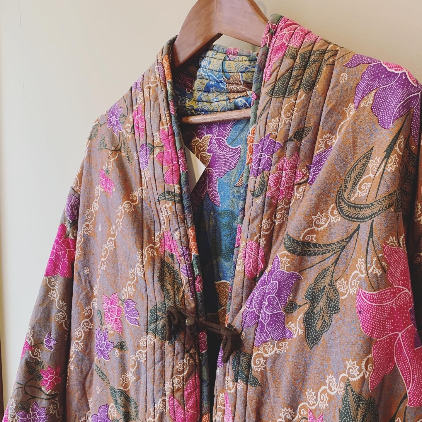 vintage reversible quiliting china outer