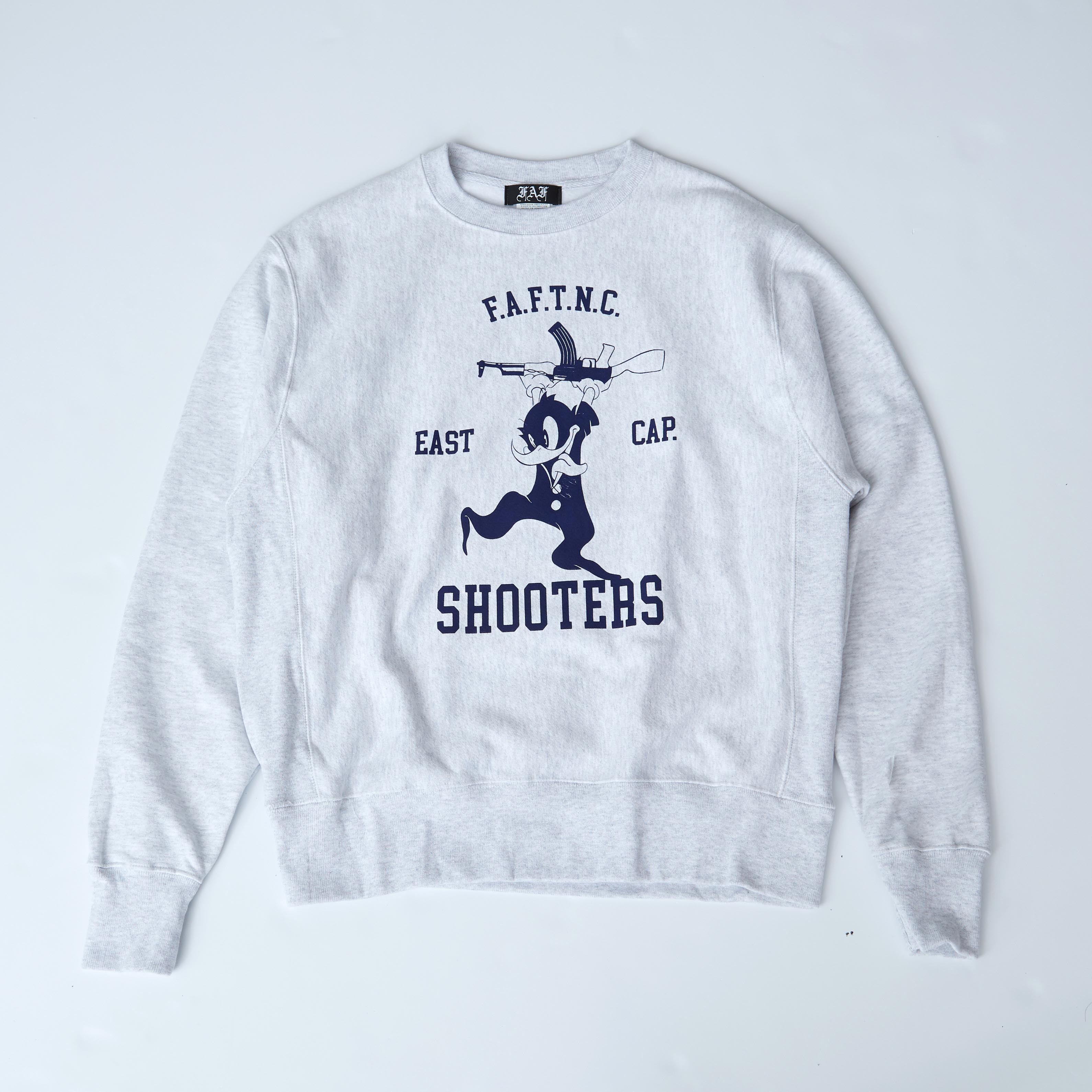 FAFTNC SHOOTERS CREWNECK / GRAY - 画像1