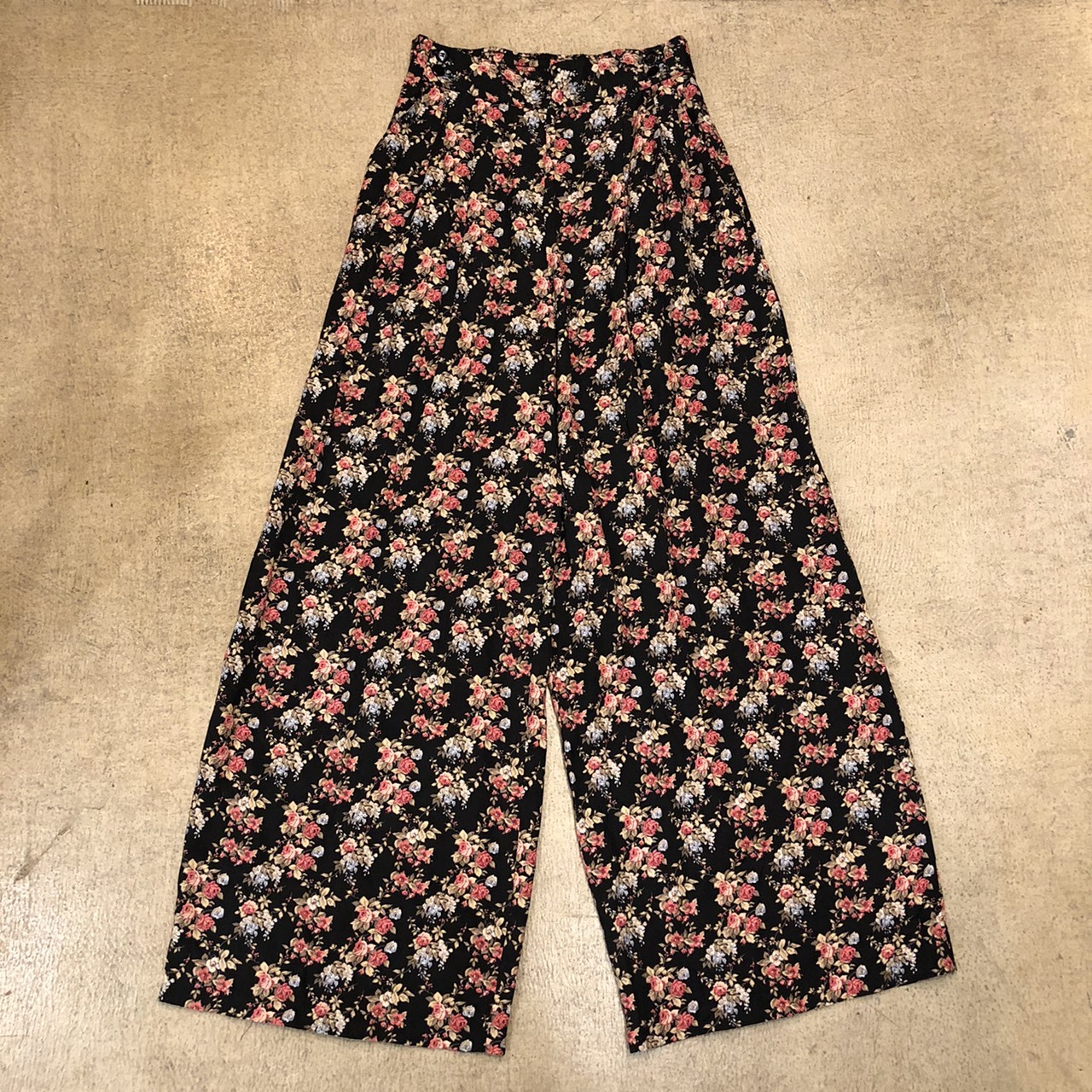 Floral Easy Pants Black ¥5,600+tax