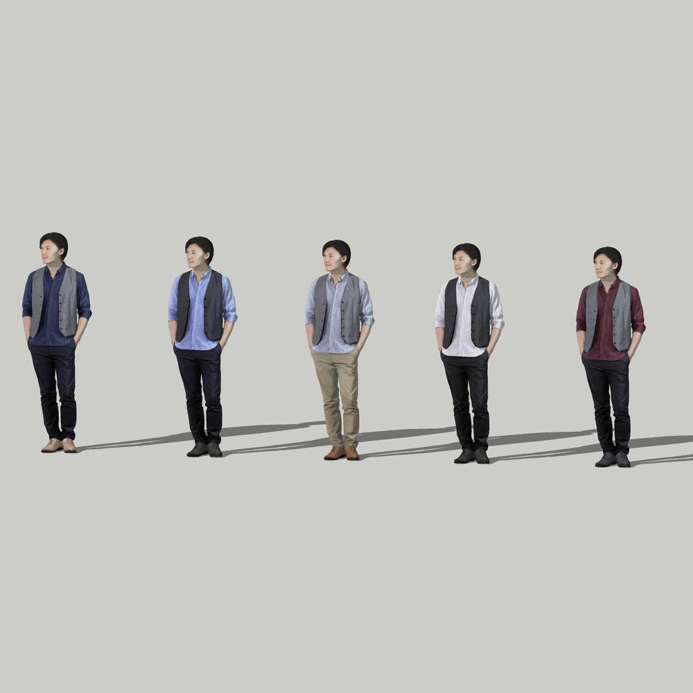 SketchUp素材 3D人物モデル ( Posed ) 069_Syun - 画像2