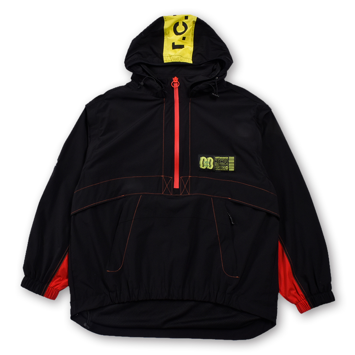 T.C.R TRICLIMATE 2WAY SHELL ANORAK V2 - BLACK/RED